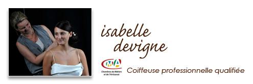 Isabelle Devigne, coiffeuse professionnelle qualifiée